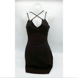 Fashion Nova Strappy Black Dress